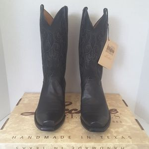 Lucchese black ranch hand cowboy boots size 10 3E